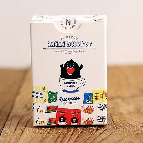 96pcs Mini Monster Label Sticker Set