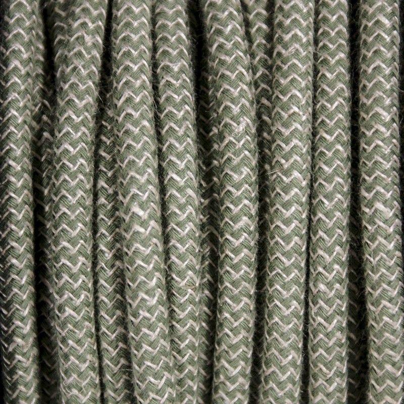 Câble électrique Textile Rond De Couleur Tissu à Motifs   EXO ATELIER Fil  électrique Tissu