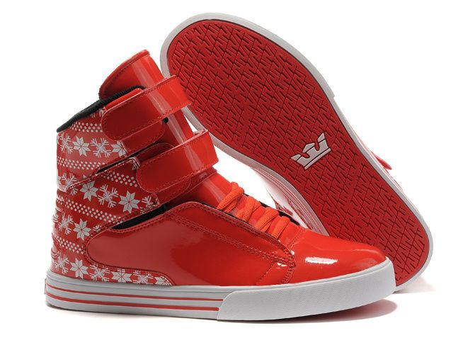 9fe1af70f9f3 Supra TK Society Red Perf Leather Online red leather hitop runnins shoew