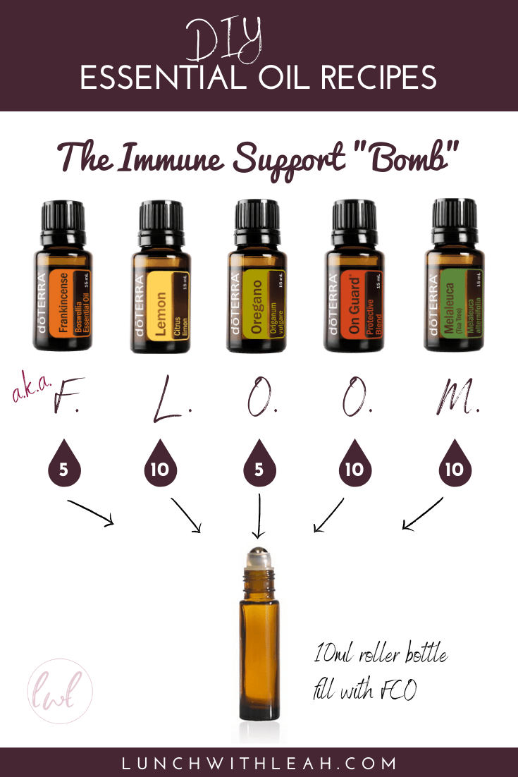 How to make an immune support bomb with essential oils (aka FLOOM)