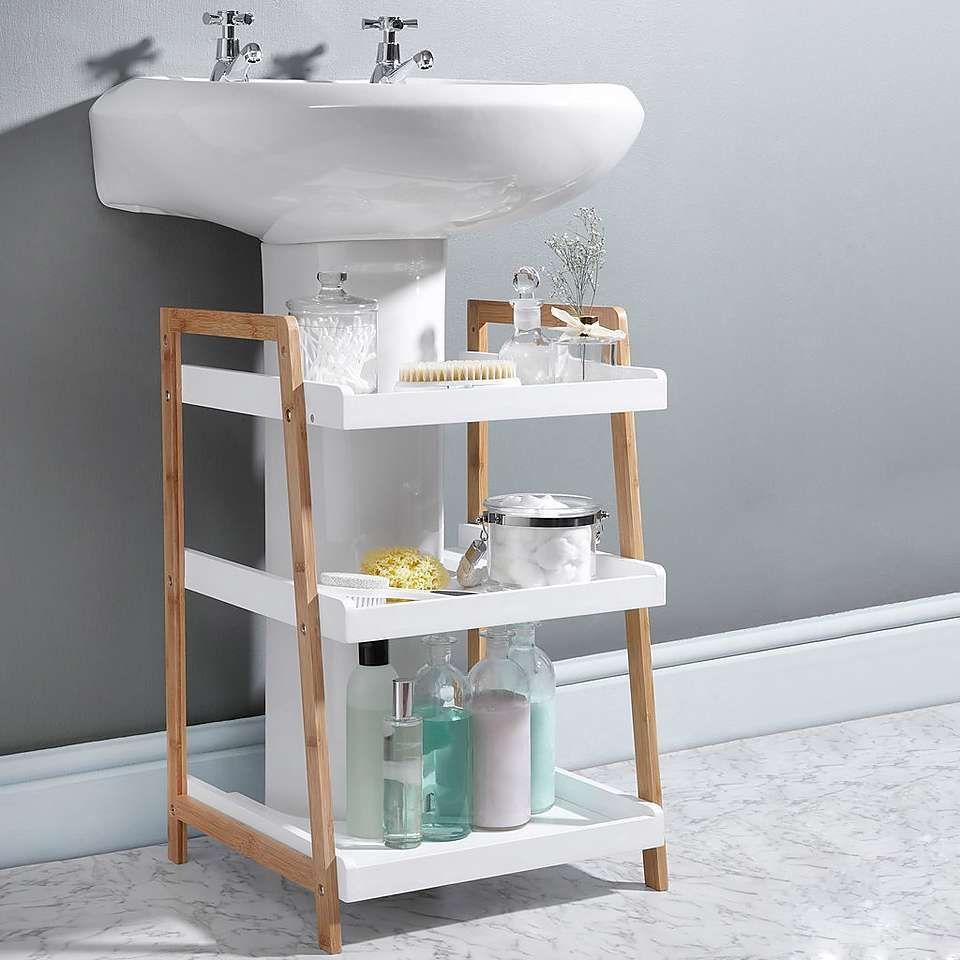 Elements Bamboo Under Sink Caddy Under Bathroom Sinks Bathroom Storage Cabinet Bathroom Furniture Storage