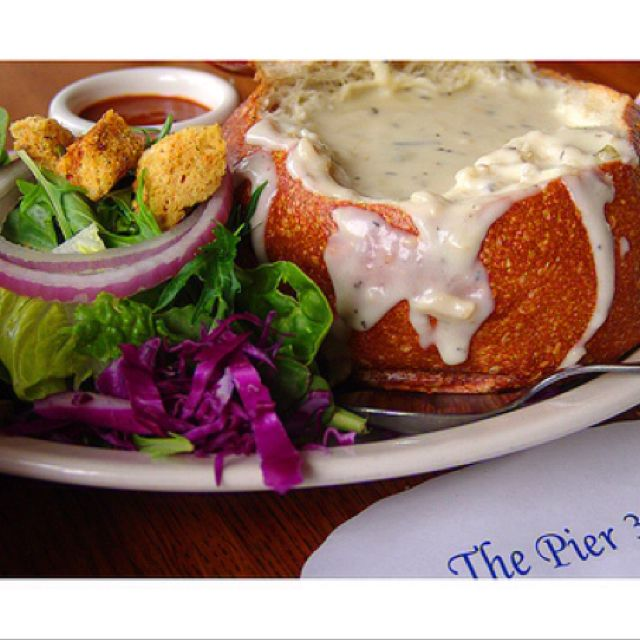 My favorite San Fransisco clam chowder soup !!
