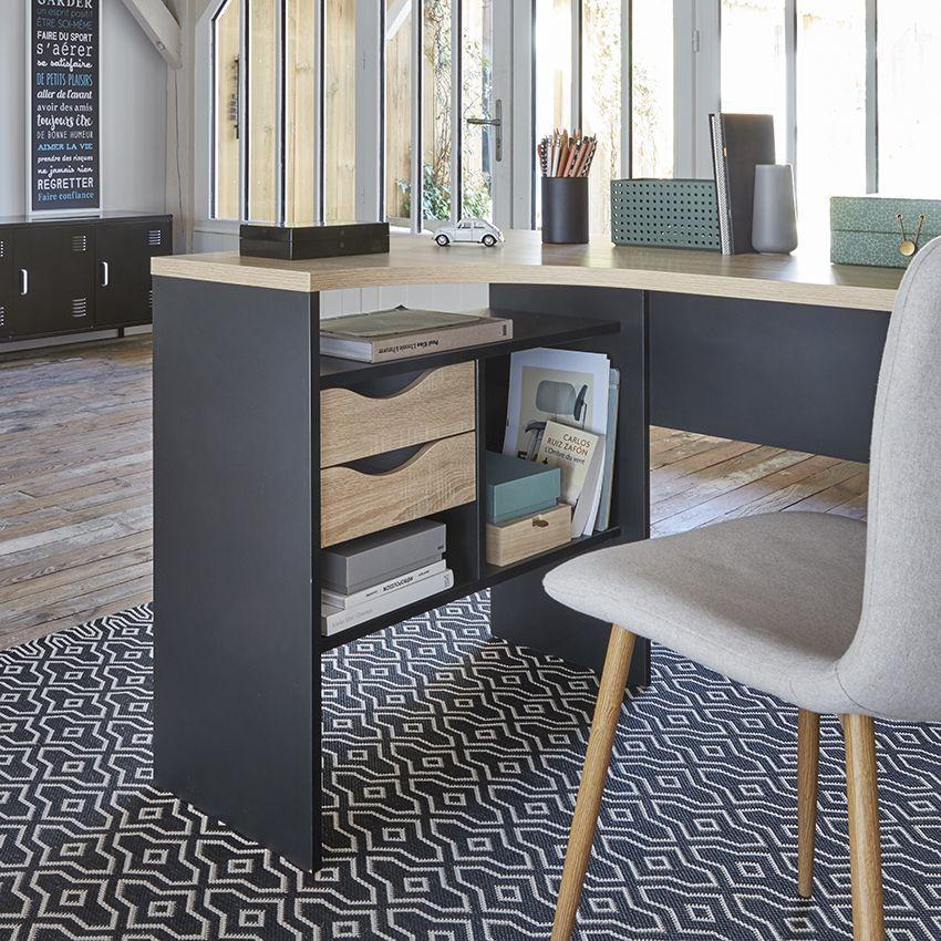 Le Bureau Alkor Permet Beaucoup De Rangements But Meuble Angle Ikea Bureau Angle Decoration Maison