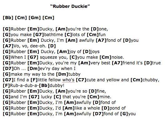 Rubber Duckie Sesame Street Ukulele Chords Ukulele For Kids