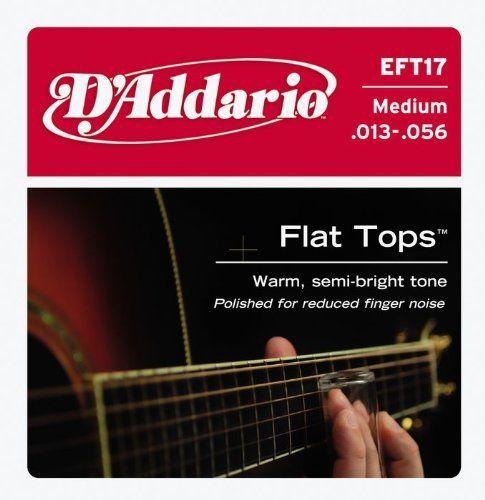 D Addario Eft17 Flat Top Pb Medium Acoustic Guitar Strings By D Addario 6 80 Gauges 13 17 26 35 45 56 D Add D Addario Acoustic Guitar Strings Guitar Strings