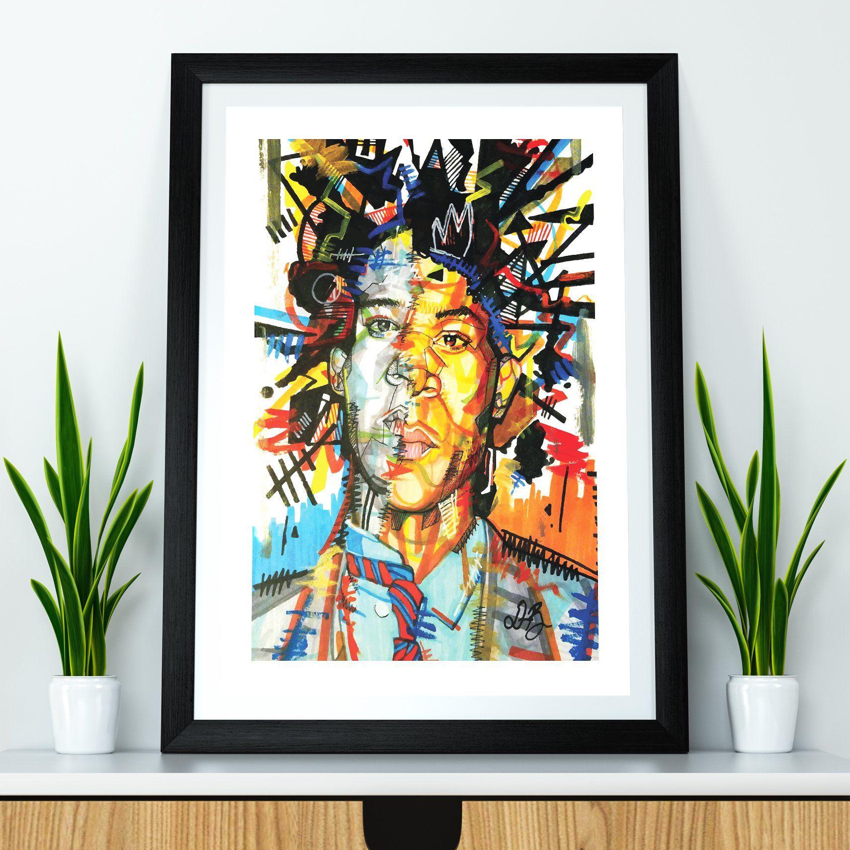 basquiat print 24x36 inches