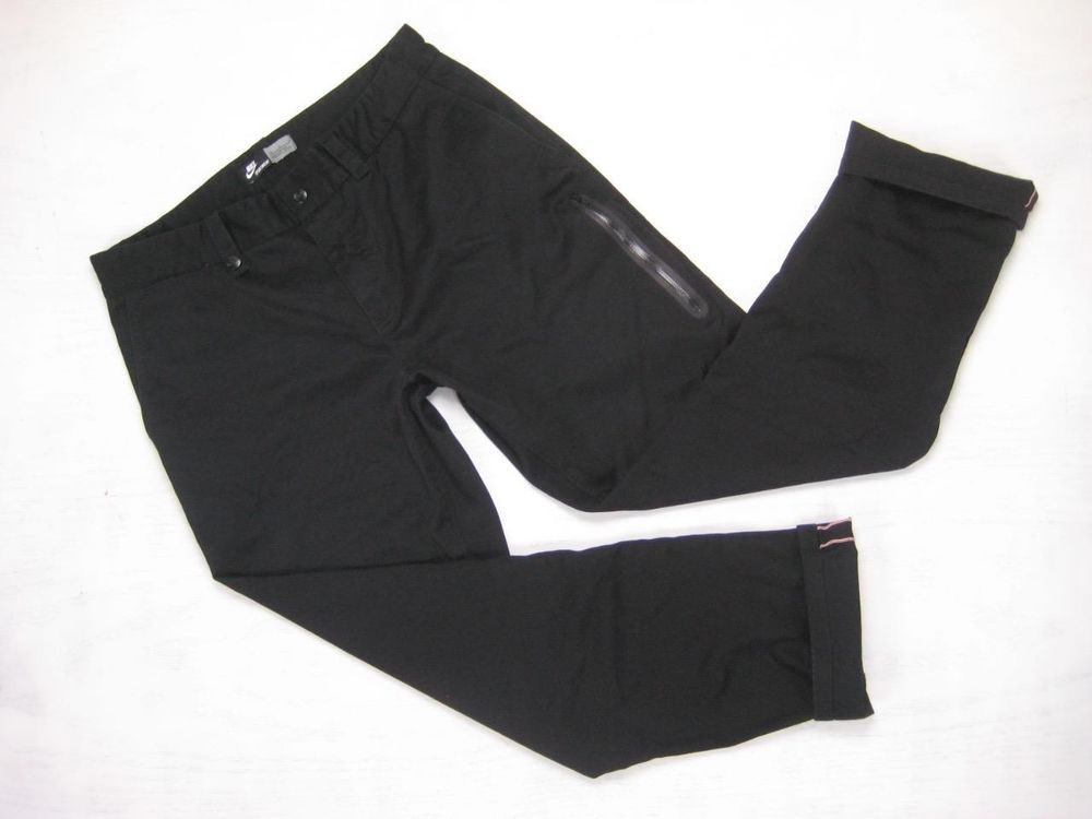 NIKE SPORTSWEAR NSW blk SLIM/STRAIGHT SELVEDGE CHINO SKATE PANTS ...