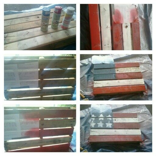 Free Mini Pallet From Lowes 3 Ea Red Blue Paint 1 White 7 Total