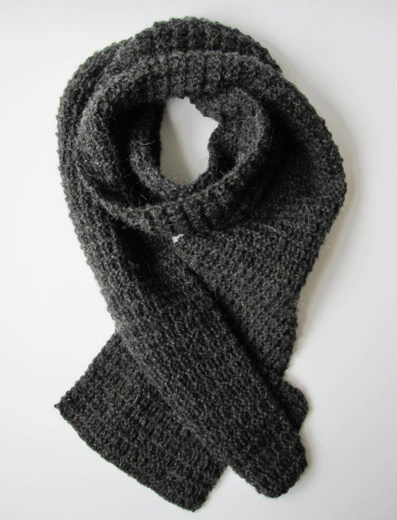 Long Scarf Chunky Scarf Woolen Scarf Hand Knit Scarf For Man Angora