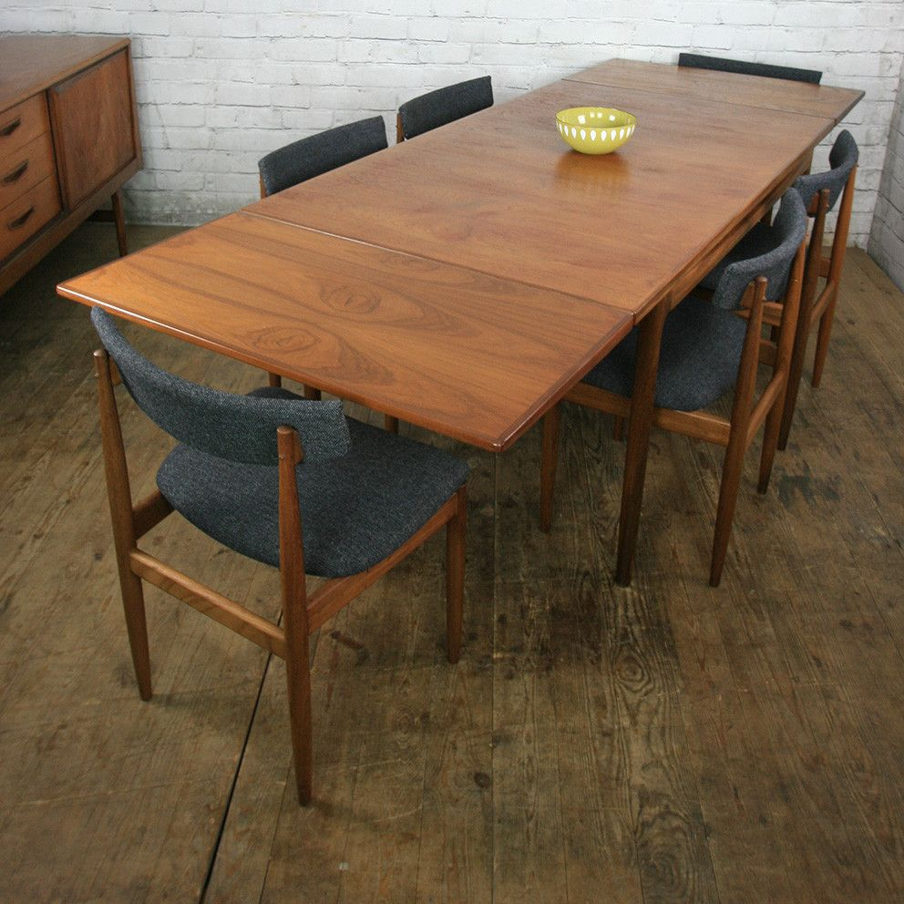 Table A Manger Retractable Vintage Teak Extending Dining Table By Kofod Larsen Mid Century