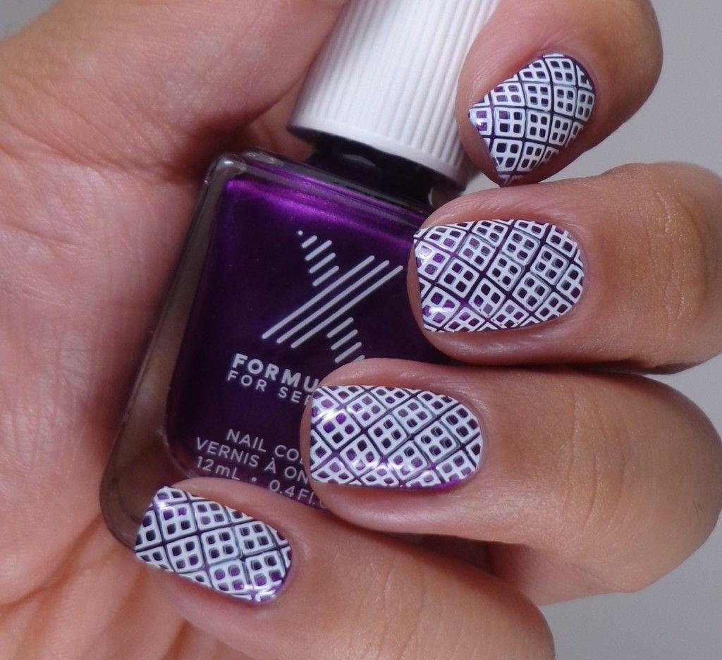 Mash-46 plate stamping nail art, using Sephora X: Pedal to the Metal ...