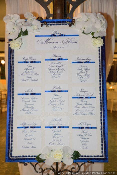Matrimonio Tema Blu E Bianco : I tableau de mariage più originali per il