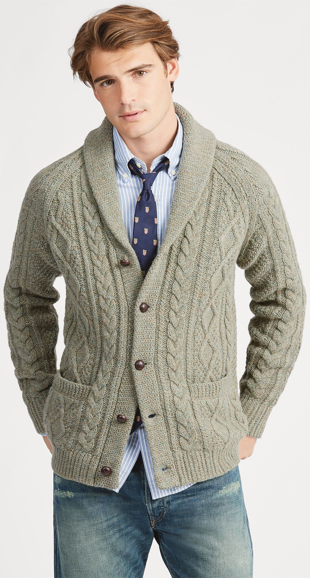 ab7cf71358d6 POLO RALPH LAUREN Cable Wool-Cashmere Cardigan