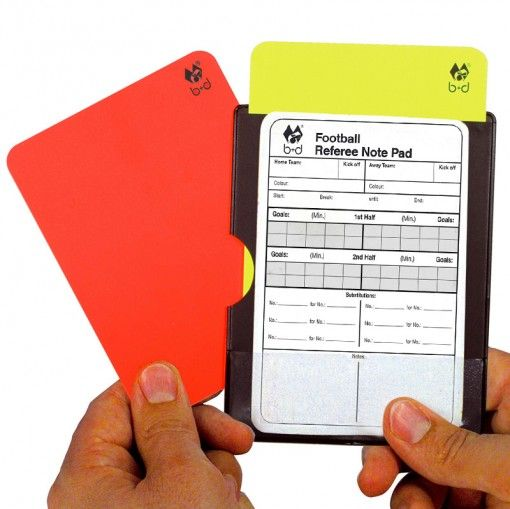 Keep Your Disciplinary Cards And Match Report Card Packed Flat With This Compact Set Cards And Match Report Card Slide Into Ind Soccer Referee Referee Soccer