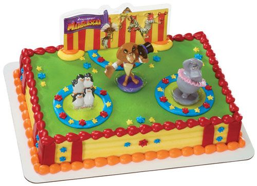 Madagascar 3 Cake Decoration Kit My Birthday 9 24 93