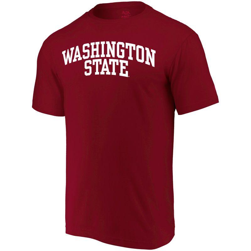 official photos 5b53d 12781 Washington State Cougars Alta Gracia (Fair Trade) Arched Wordmark T-Shirt -  Crimson