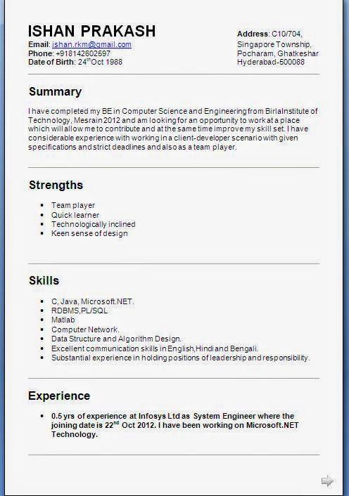 Cv Examples Student Cv Examples Algorithm Design Kharagpur