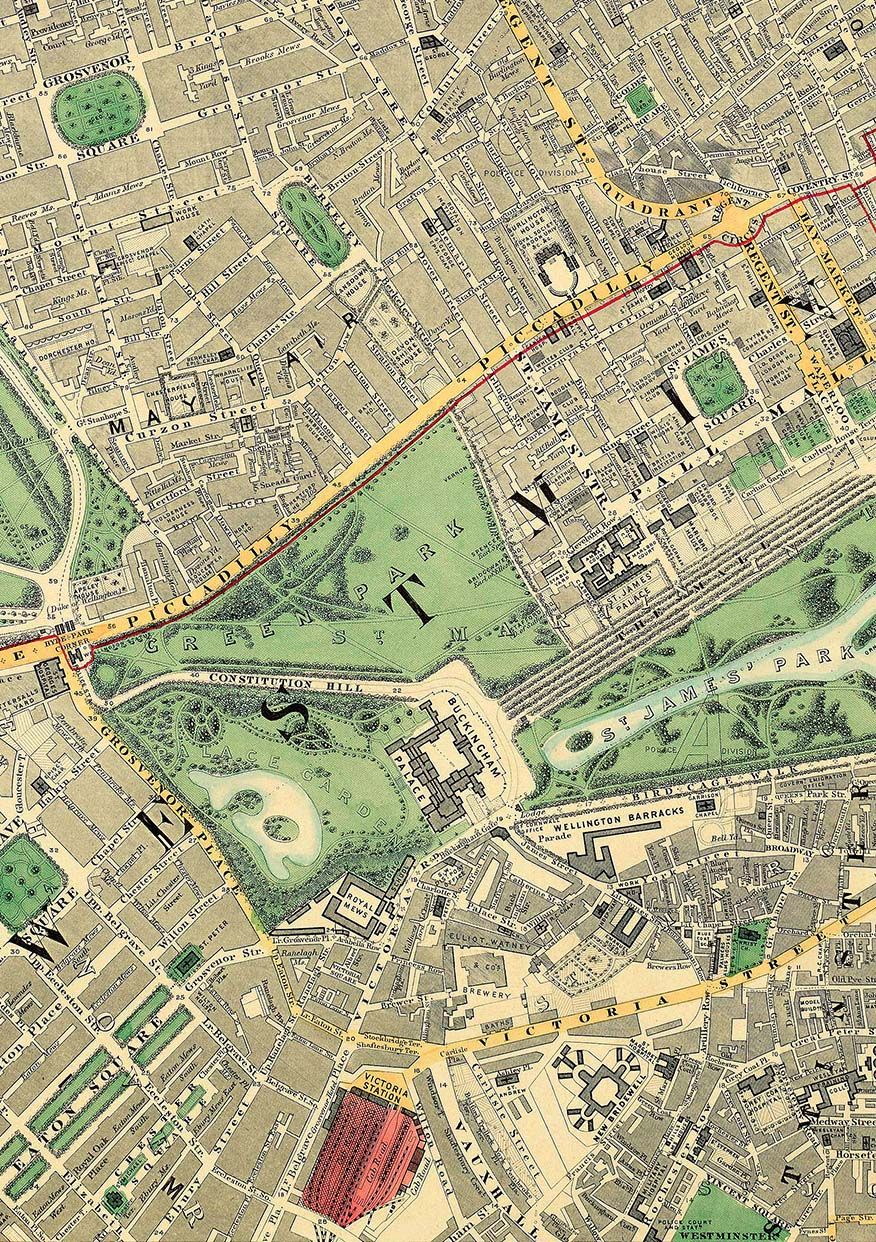The Mall London Map.Mayfair To Victoria London Maps London Map London History Pall