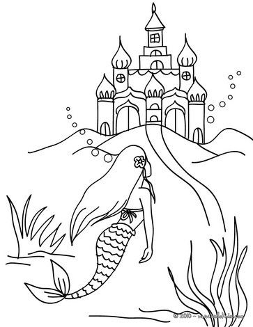 Color Online Coloring Pages Mermaid Coloring Pages Kindergarten Coloring Pages