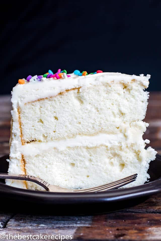 Looking for a vanilla cake recipe This homemade white cake is kept