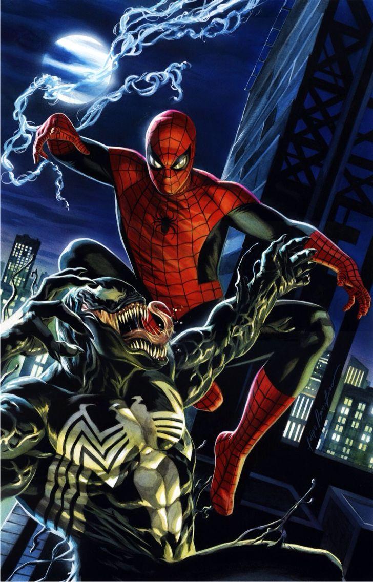Spiderman vs venom my marvel pinterest dessin - Dessin anime spider man ...