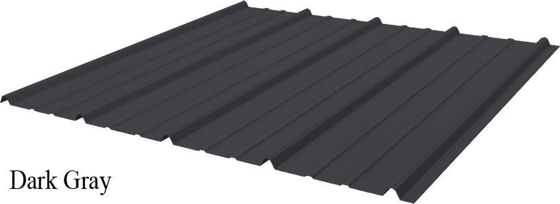 Tuff Rib 3ft Wide Dark Gray Metal Roofing Panel Starting At 6ft Lengths Roof Panels Metal Roof Roofing