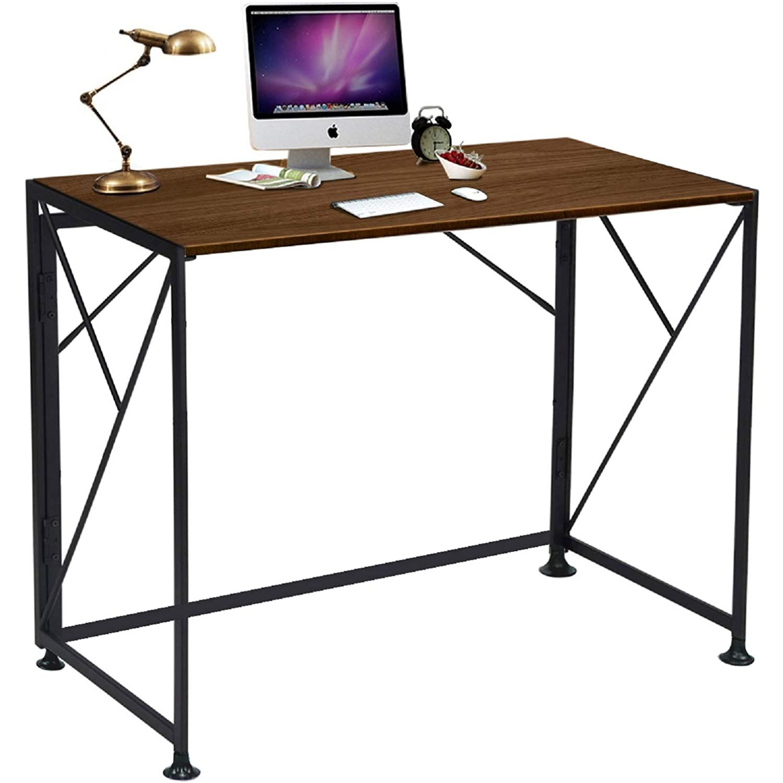 Comhoma Writing Computer Desk Office Folding Table Modern Simple Work Study Desk Industrial Style Pc Laptop Tabl Industrial Style Desk Simple Writing Desk Desk