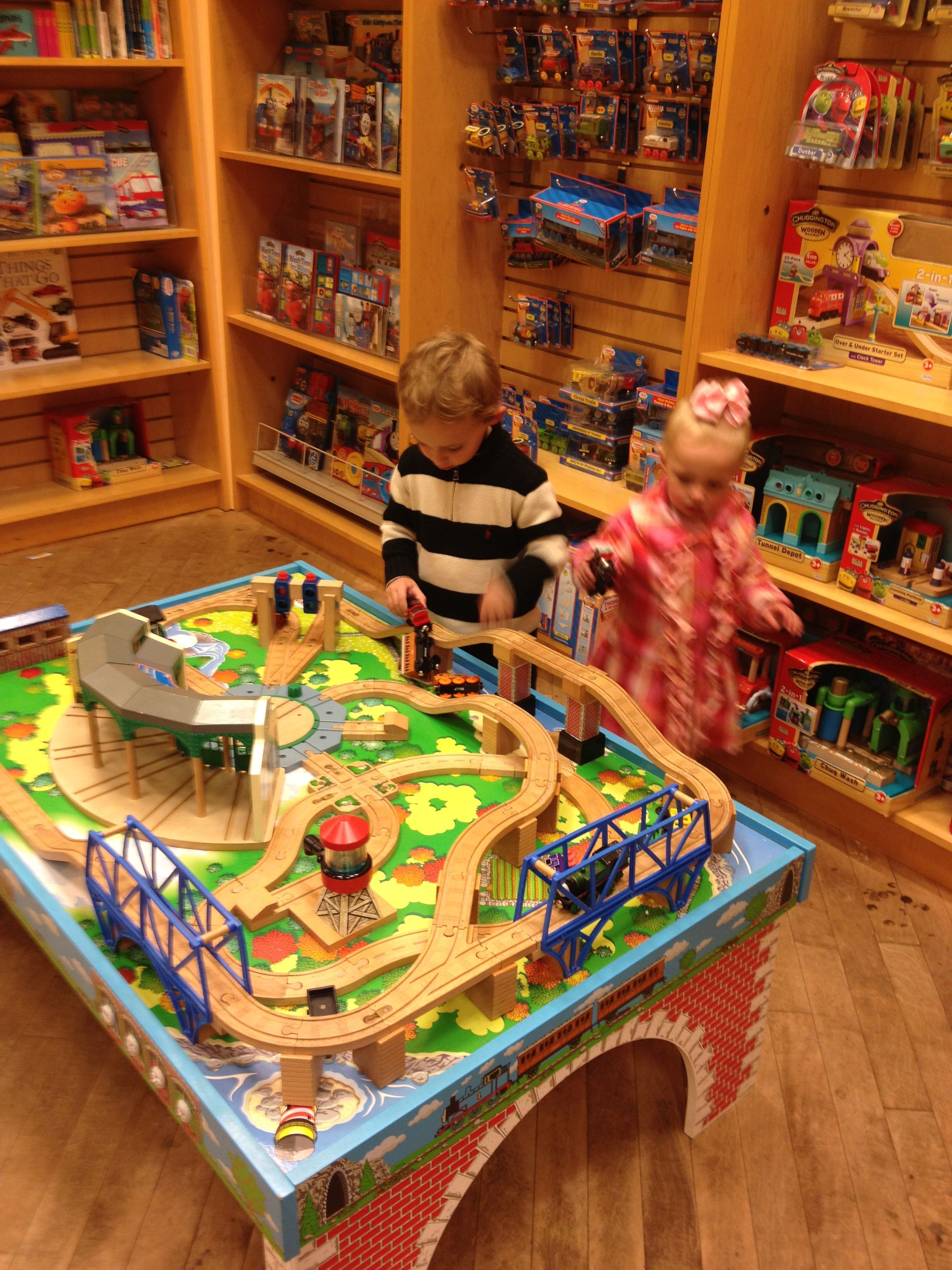Train table at Barnes & Noble (With images) Wooden train