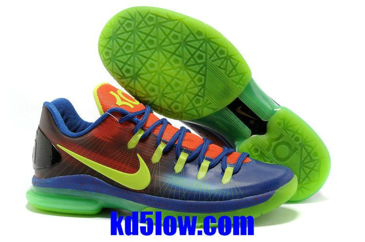 Nike Kevin Durant 5 Low Blue Red Green Shoes