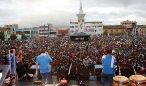 IPIALES, DEPARTAMENTO DE NARIÑO, COLOMBIA (J., 2 ENE 2014)       CARNAVAL DE IPIALES 2014 - Todo listo para el Carnaval Multicolor de la Frontera en Ipiales.