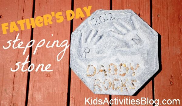 Fathers Day Stepping Stone- great tutorial!