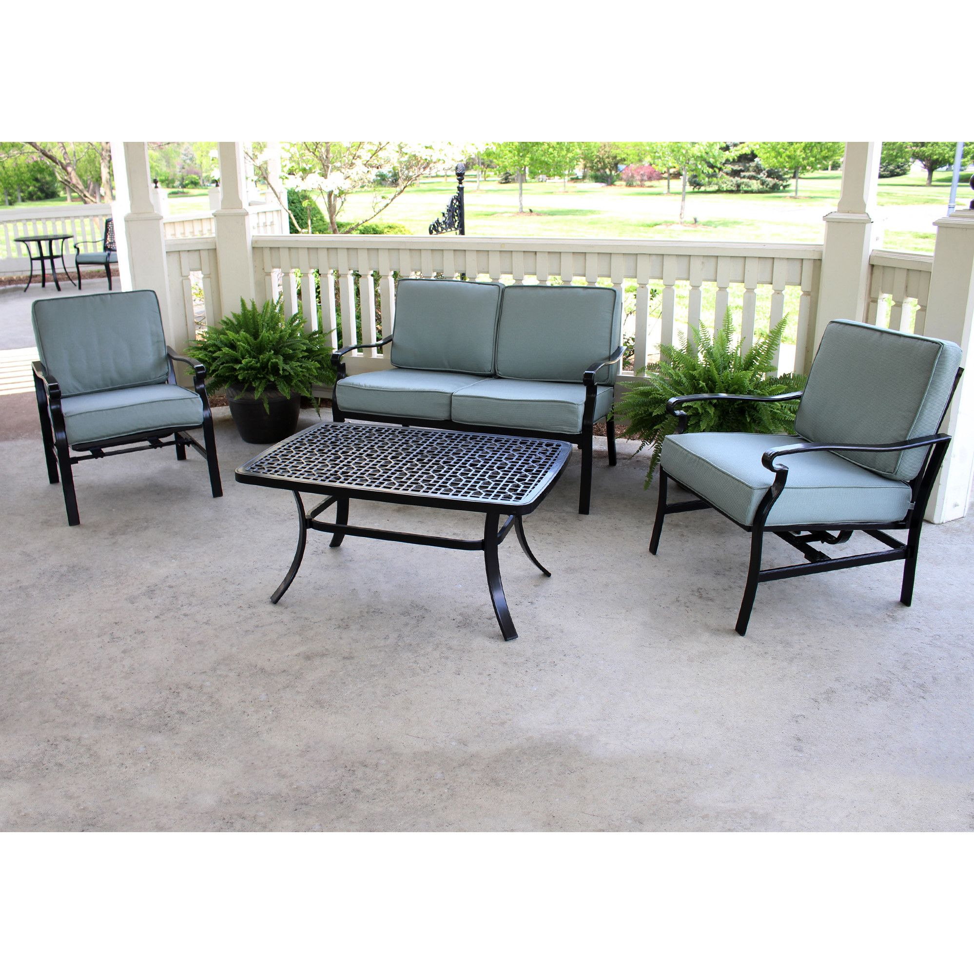 Best Apollo Providence 4 Piece Deep Seating Group With Cushion 400 x 300