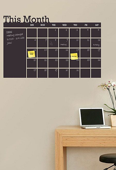 Chalkboard Calendar Wall Decal Great Organization Idea I Would