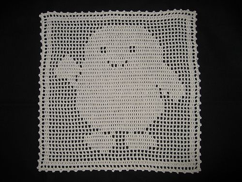 Filet Crochet Adipose Doily By Meredee Via Flickr Projects To Try