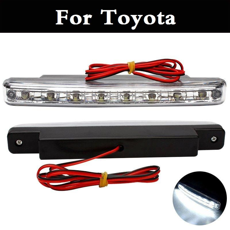 8 LED DC 12V Daytime Running Light Fixed Iron Plate Screw DRL For Toyota  Prius Prius
