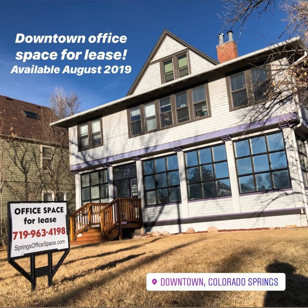 Gorgeous Downtown Coloradosprings First Floor Officespace With Tons Of Natural Lighting Hardwood Floors And Free Parking Colorado Springs Colorado Downtown