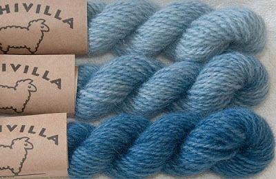 Riihivilla, Dyeing with natural dyes: My dyeings with woad Minun morsinkovärjäykseni