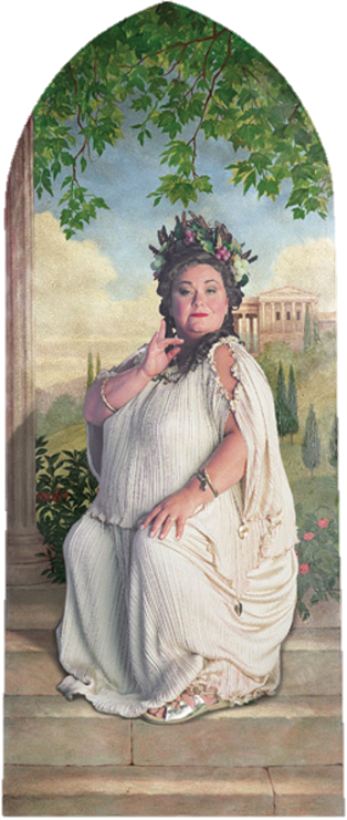 Fat Lady Portrait for the Gryffindor common room - Dawn French played the Fat Lady in the Harry Potter movies, LOVE her! Description from pinterest.com. I searched for this on bing.com/images