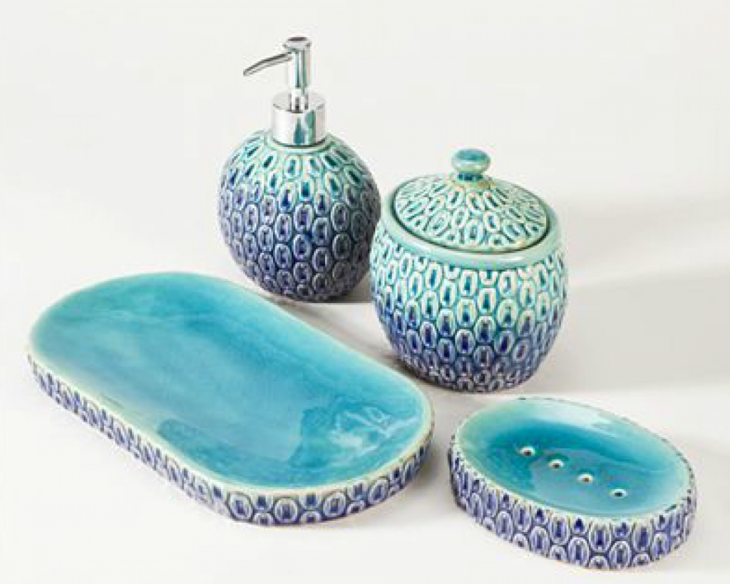 incredible bathroom accessories sets uha dewallo and teal bathroom accessories interior gallery - Teal Bathroom Accessories Uk
