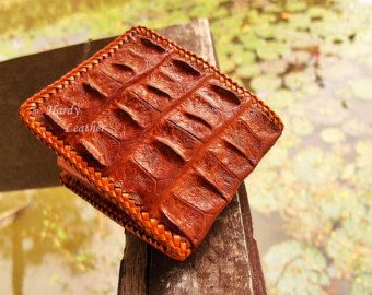 05acf1676127 THAI Alligator wallet, Hand braided wallet, Crocodile Wallet ...