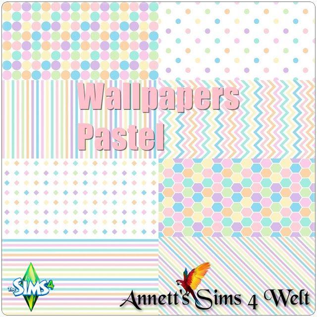 """Annett's Sims 4 Welt: Wallpapers """"Pastel"""""""