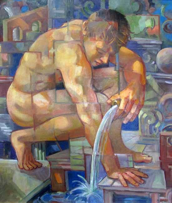 Richard Taddei (New York, 1946 - Living) - The Water Source, 2014