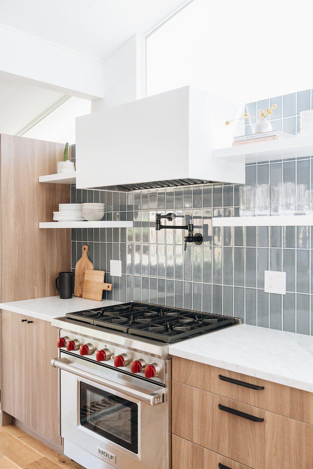 Midcentury Modern Kitchen with Cozy Textured in