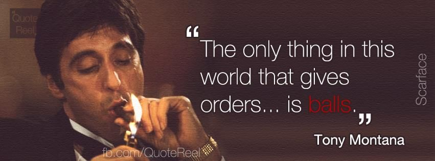 Scarface Quotes scarface quotes | Photo: Al Pacino   Scarface (1983) | My Style  Scarface Quotes