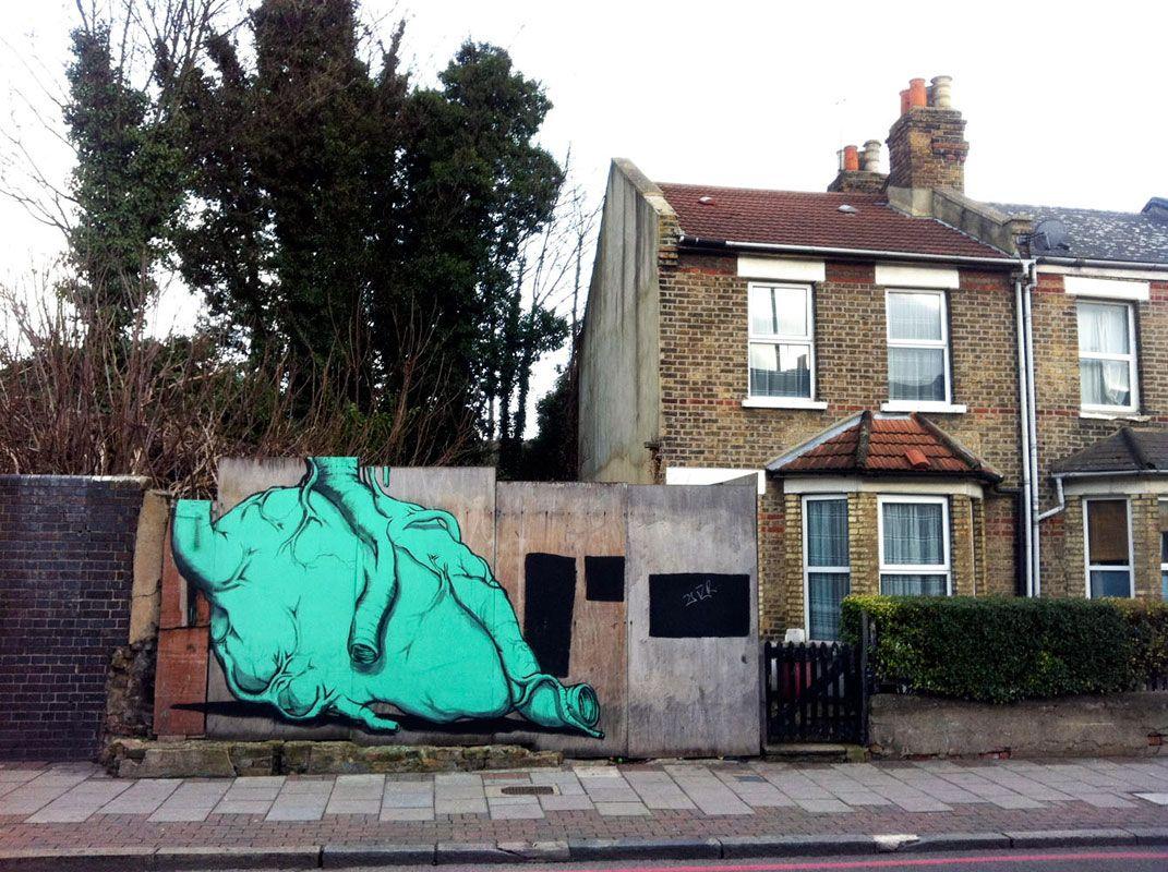 Run - Italian Street Artist - London (UK) - 2012 #run #streetart