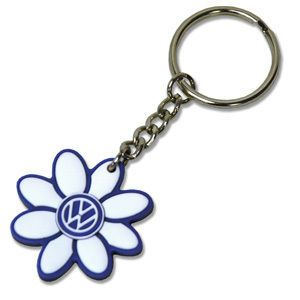 Vw Logo Beetle Blue White Key Chain Daisy Flower New Cute Car Accessories Keychain Volkswagen