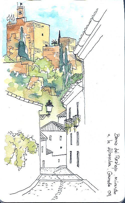 Realejo Jpg Image Dibujo Urbano Tutoriales De Pintura En Acuarela Consejos De Acuarela