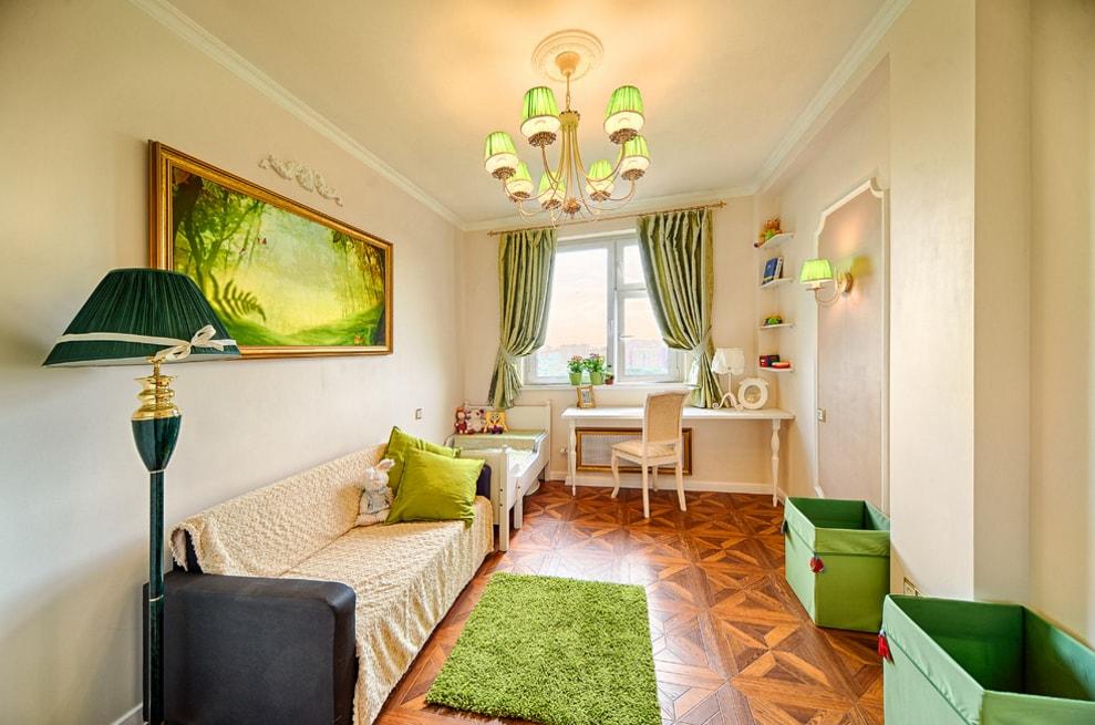 100 лучших идей: шторы зеленого цвета в интерьере на фото ...