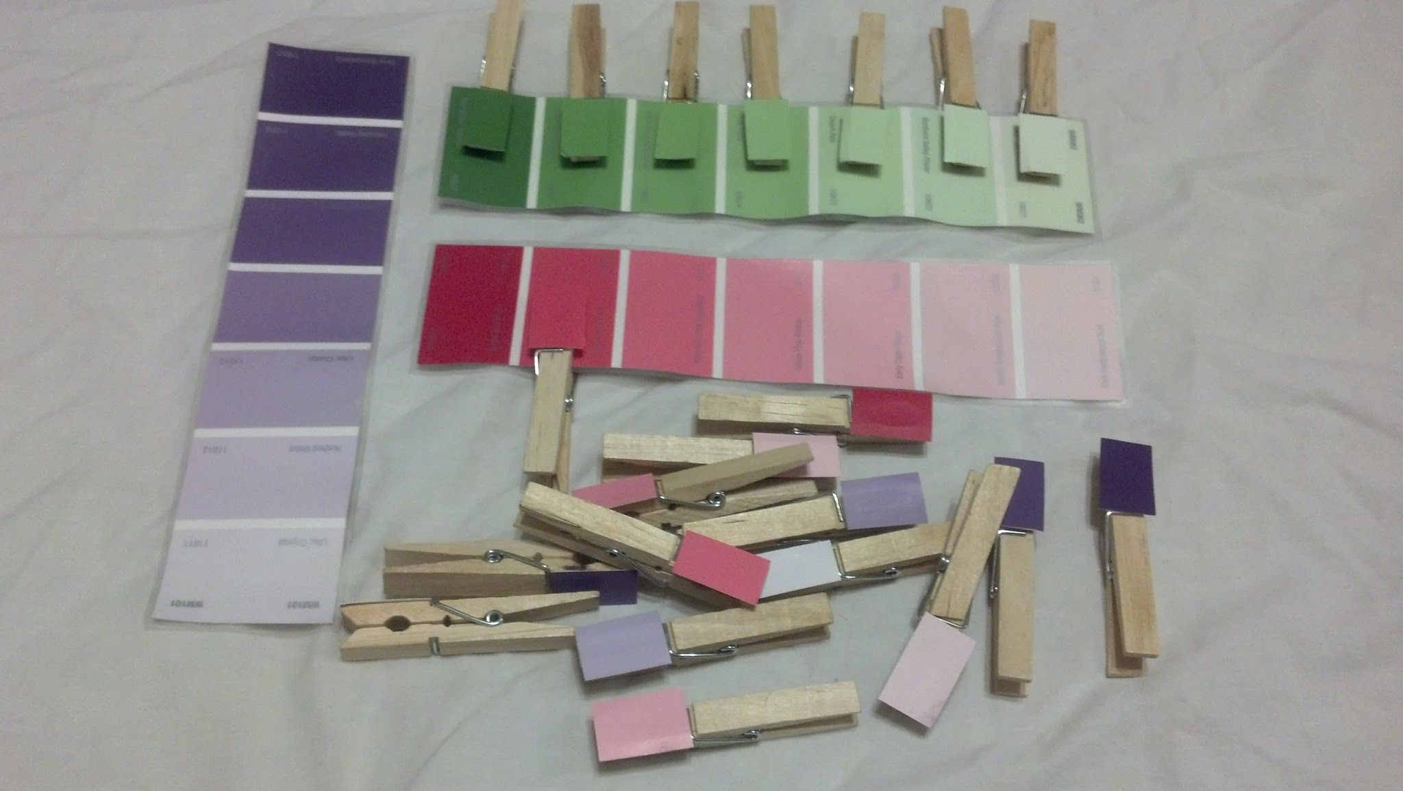 Color Match Pins. Please laminate paint swatches. Paint swatches can be gradient or individual colors.