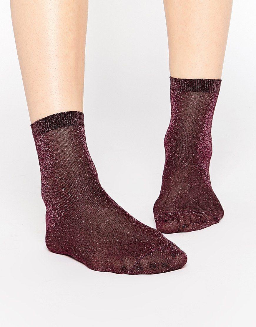 ASOS Glitter Socks at asos.com